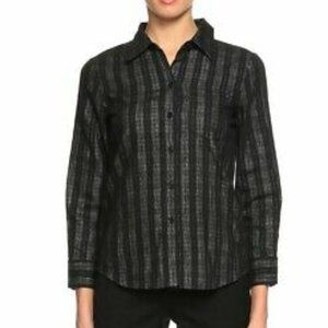 Theory Catris Long Sleeve Cotton Blend Button Down